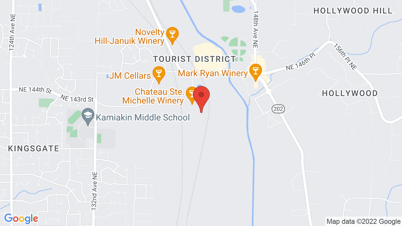 Map for Chateau Ste. Michelle Winery