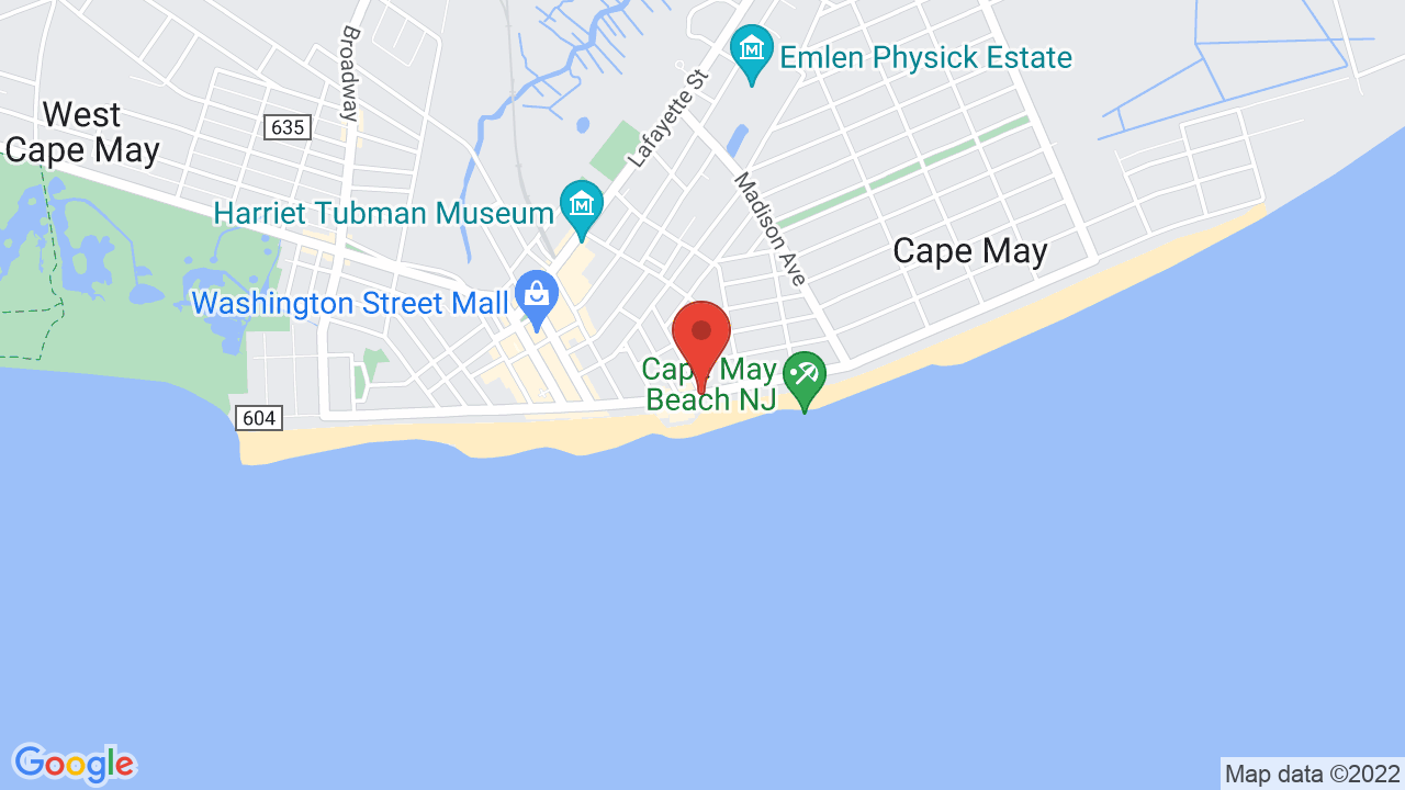 Map for Cape May Convention Center