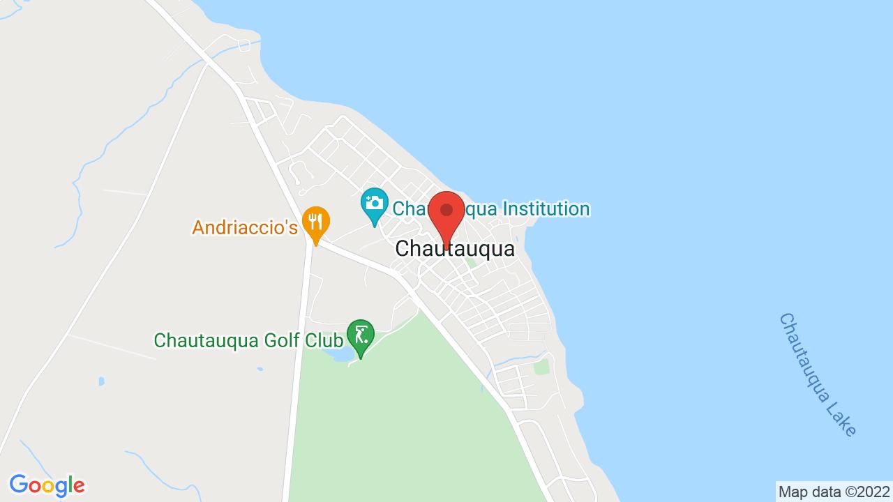 Map for Chautauqua Institute Amphitheatre