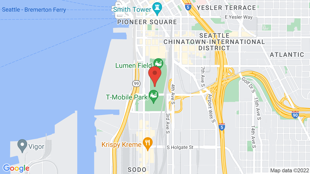 Map for CenturyLink Field