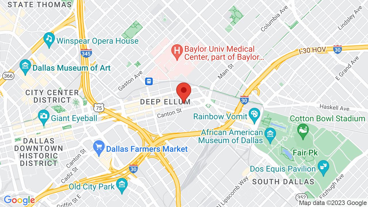 Map for Deep Ellum Art Company