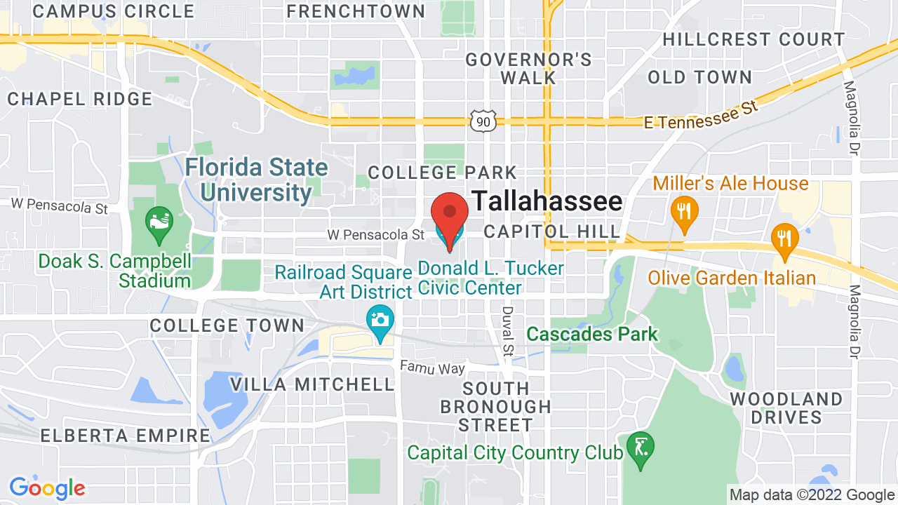Map for Donald L. Tucker Civic Center At Florida State University