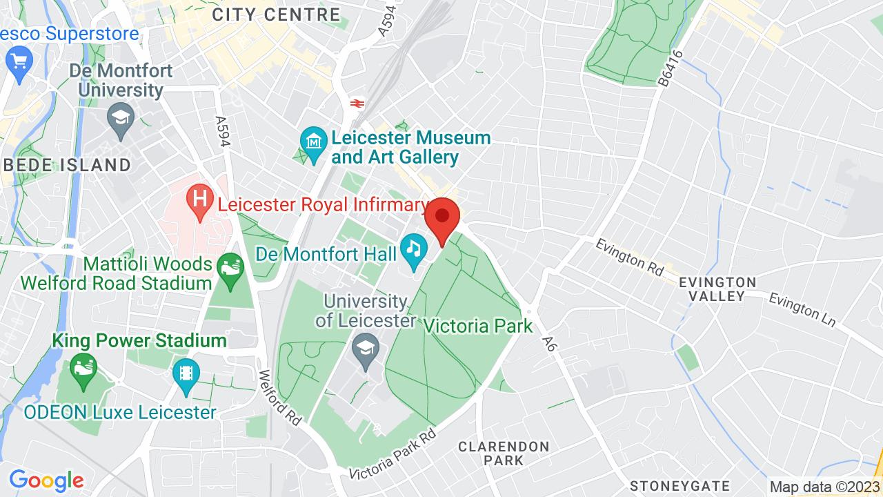 Map for De Montfort Hall