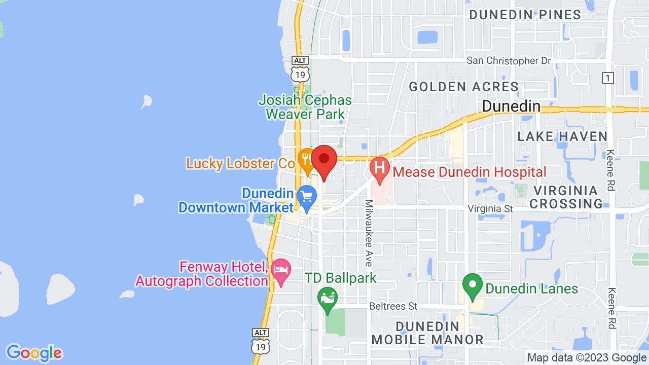 on dunedin fl map