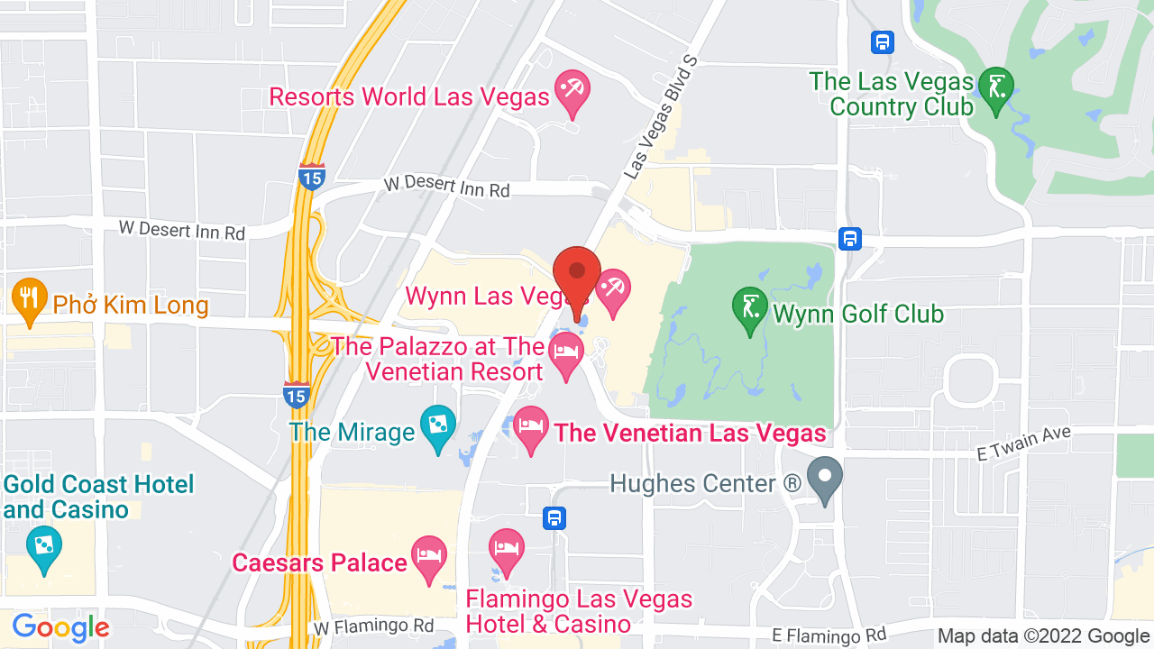 Map for Encore Theater @ Wynn