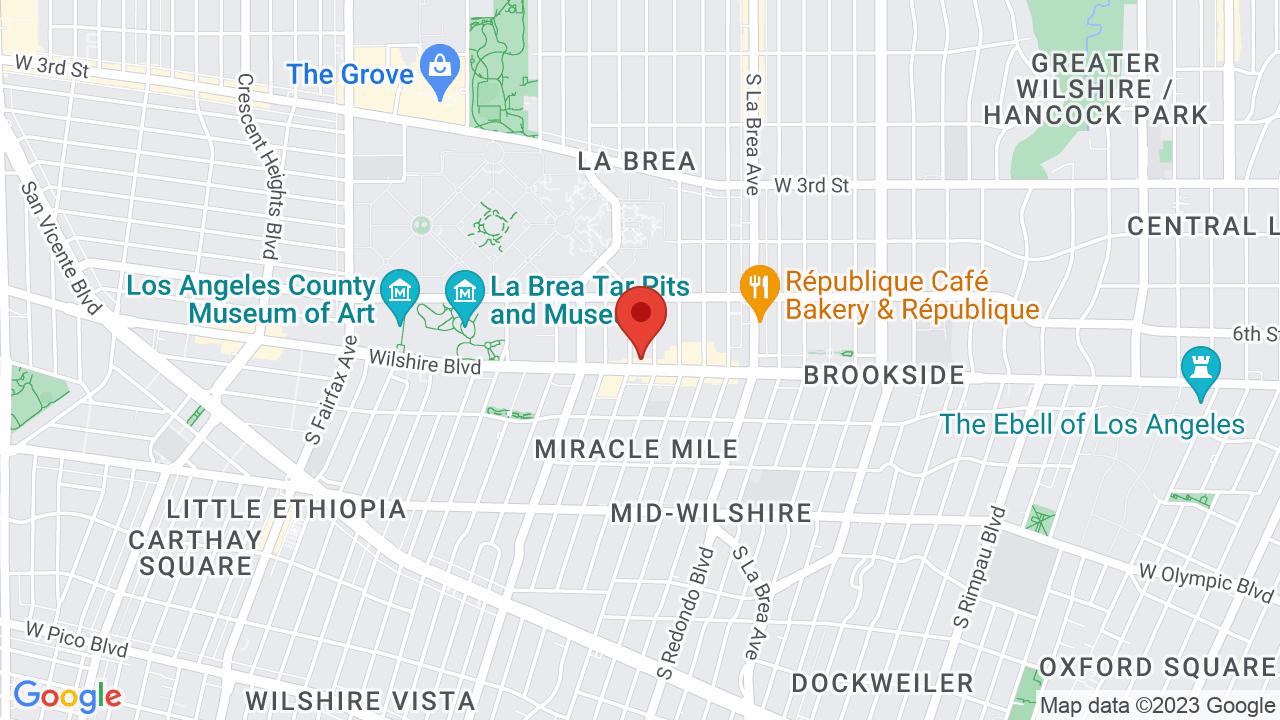 Map for El Rey Theatre