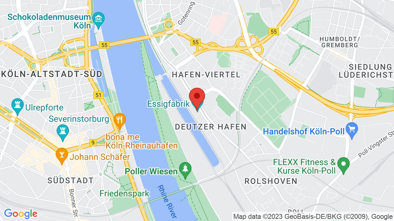 Map for Essigfabrik