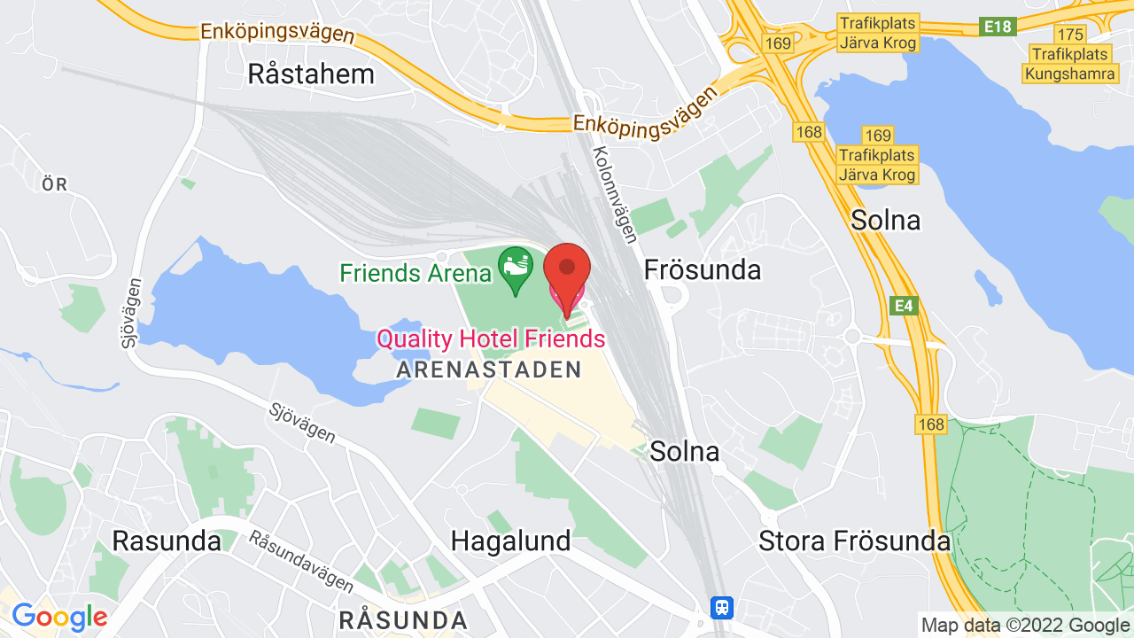 Map for Friends Arena