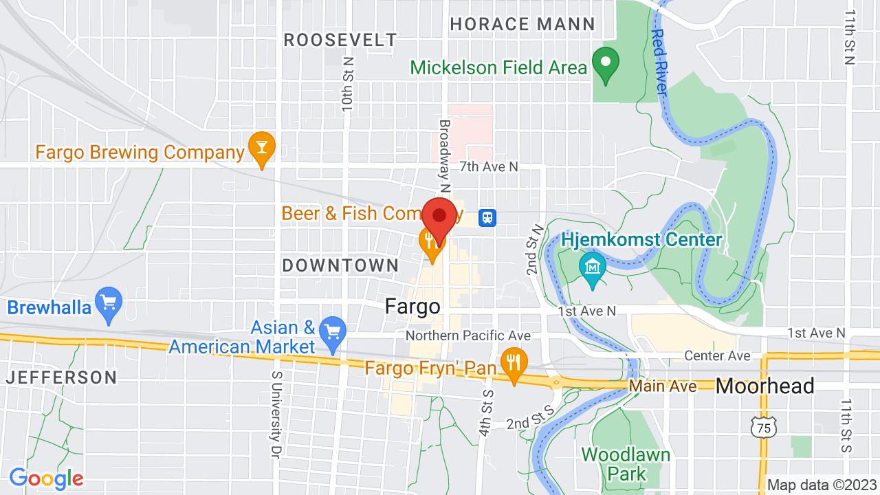 Map for Fargo Theatre