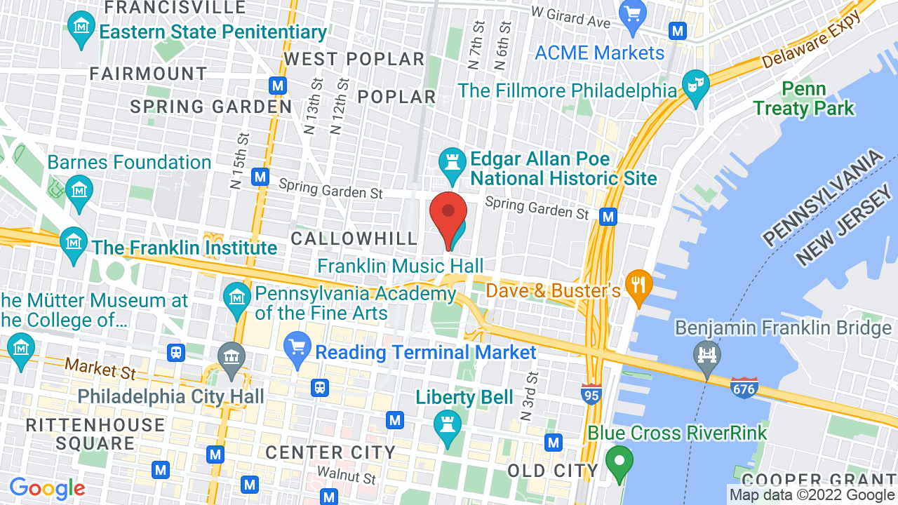 Map for Franklin Music Hall