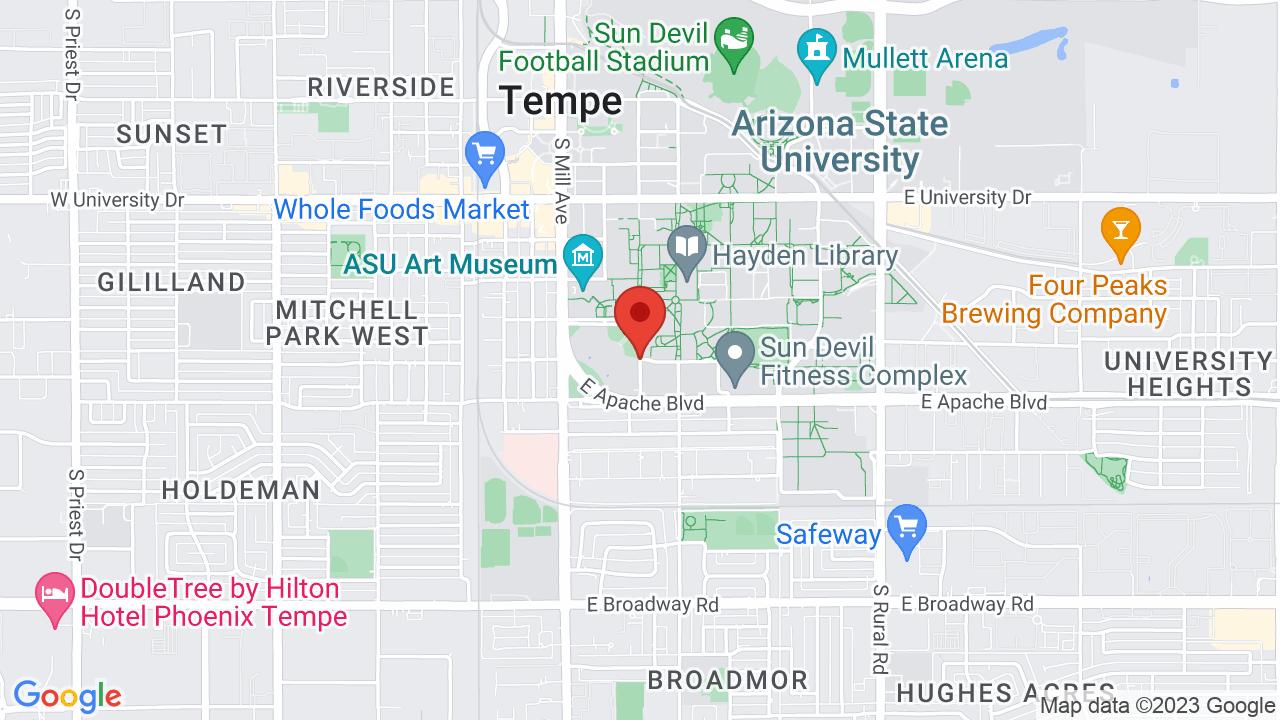 Arizona State University Tempe Campus Map.Gammage Auditorium Arizona State University Shows Tickets Map