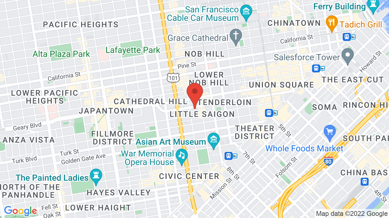 Map for Great American Music Hall