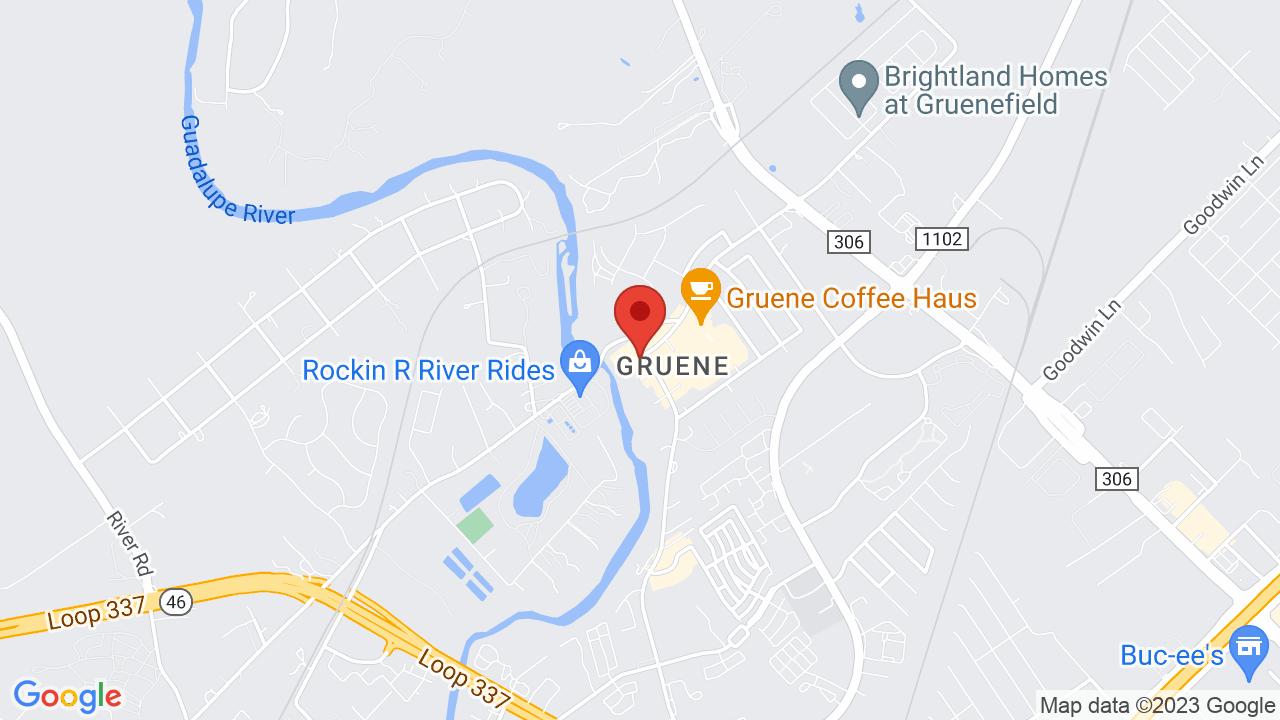 Map for Gruene Hall