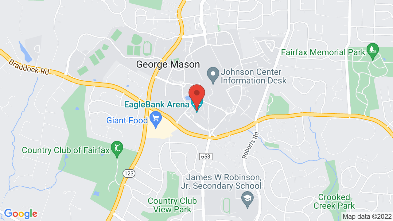 Map for Eaglebank Arena