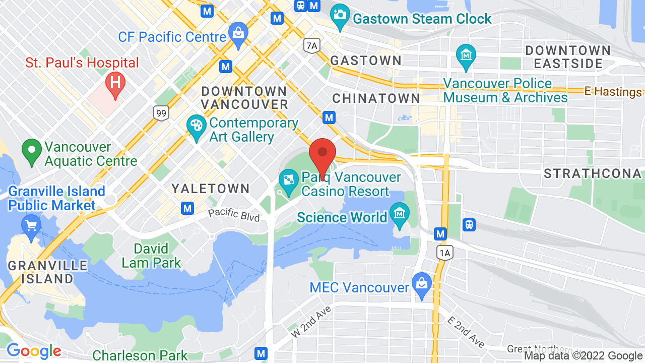 Map for Harbour Event Centre