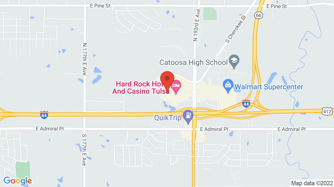 Map for Hard Rock Hotel & Casino