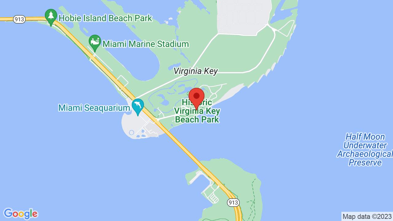Map for Historic Virginia Key Beach Park