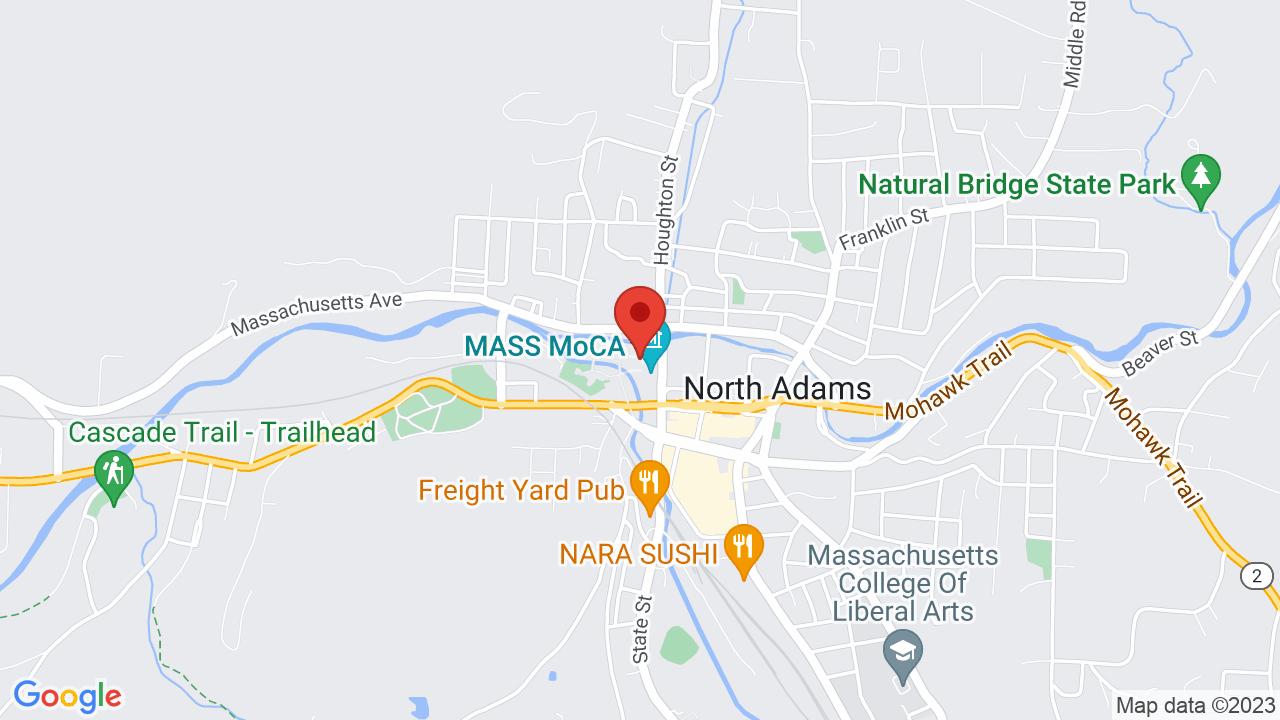 Map for Hunter Center at MASS MoCA