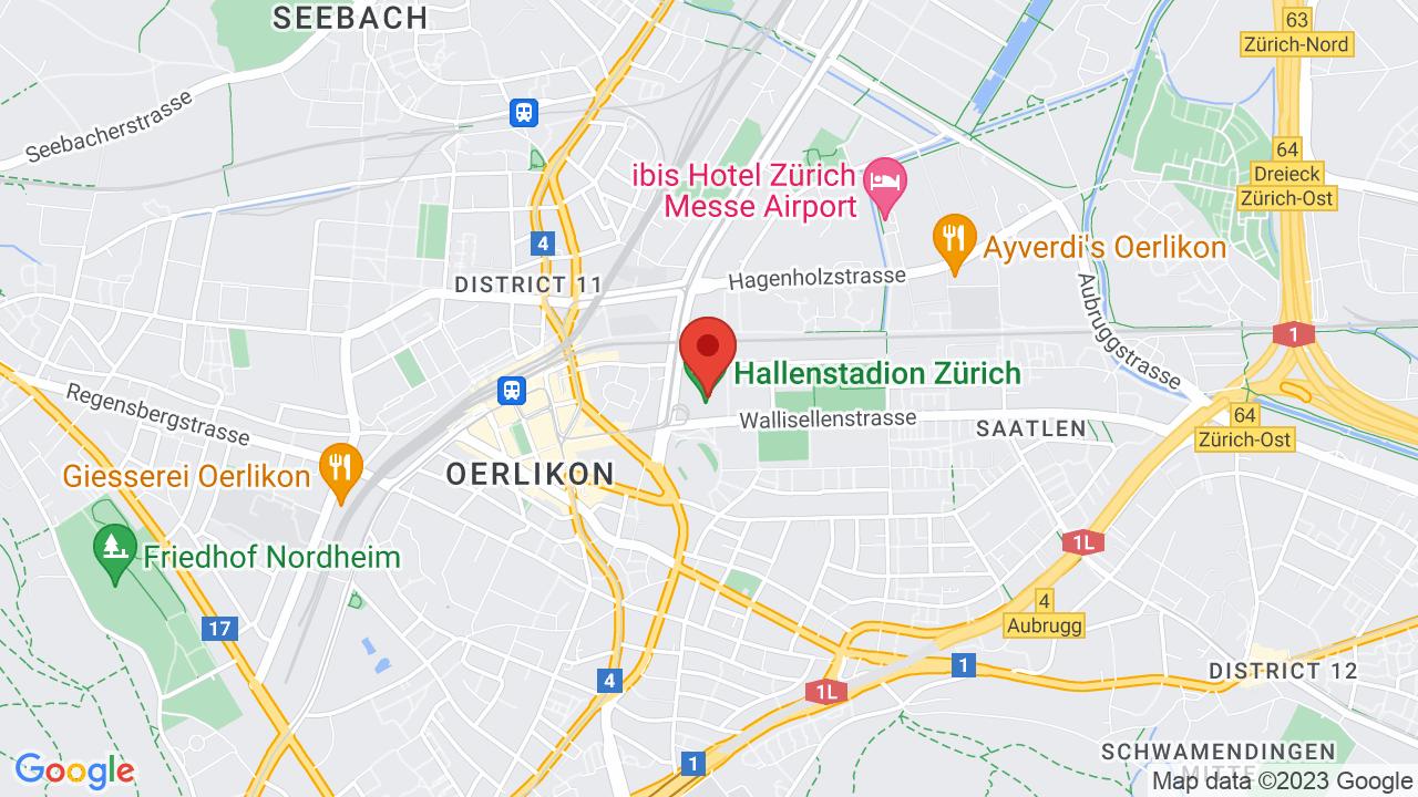 Map for Hallenstadion Zurich