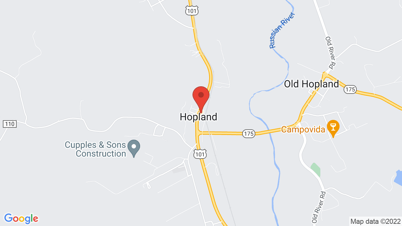 Hopland Tap Shows Tickets Map Directions