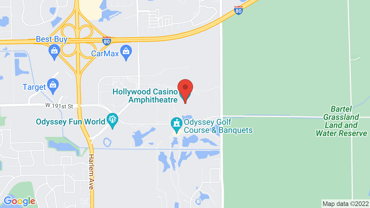 Map for Hollywood Casino Amphitheatre