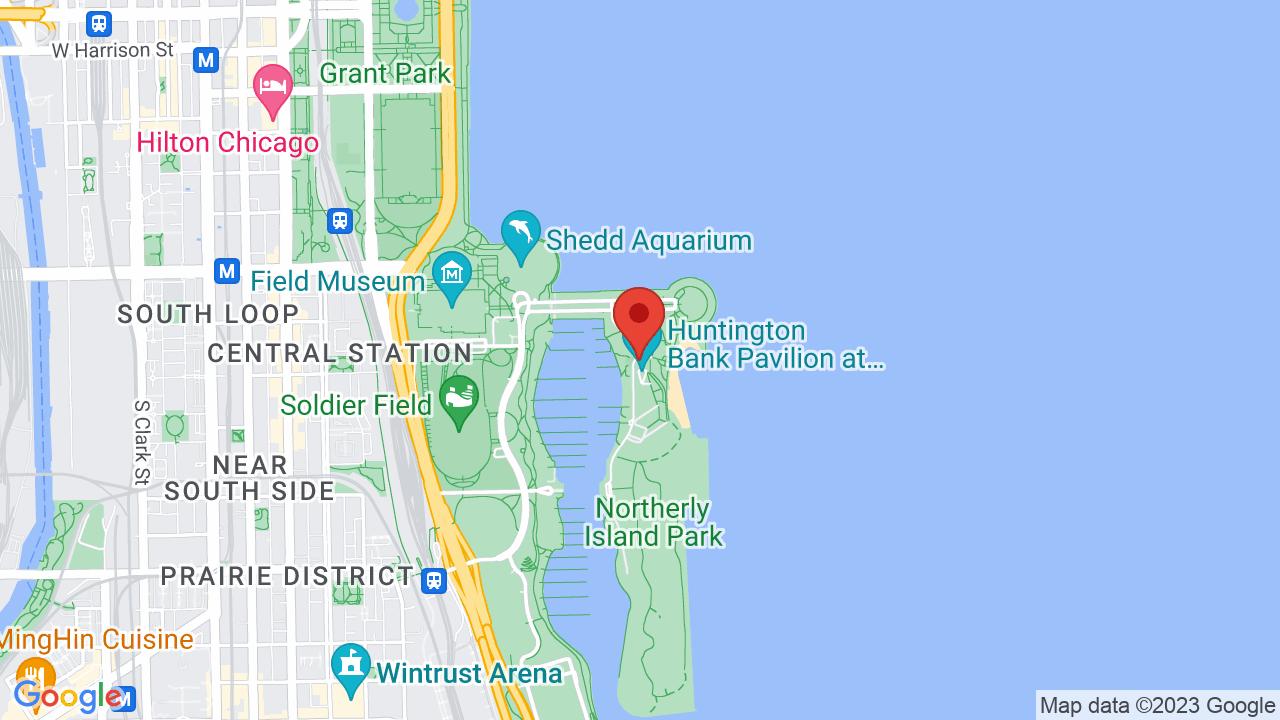 Map for Huntington Bank Pavilion at Northerly Island