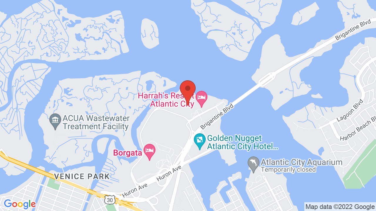 Harrahs Atlantic City Map