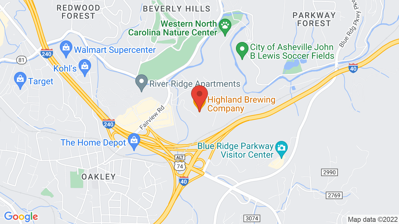 Map for Highland Brewing Company
