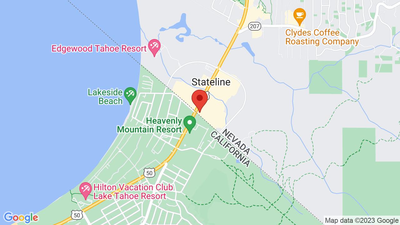 Map for Harrah's Lake Tahoe