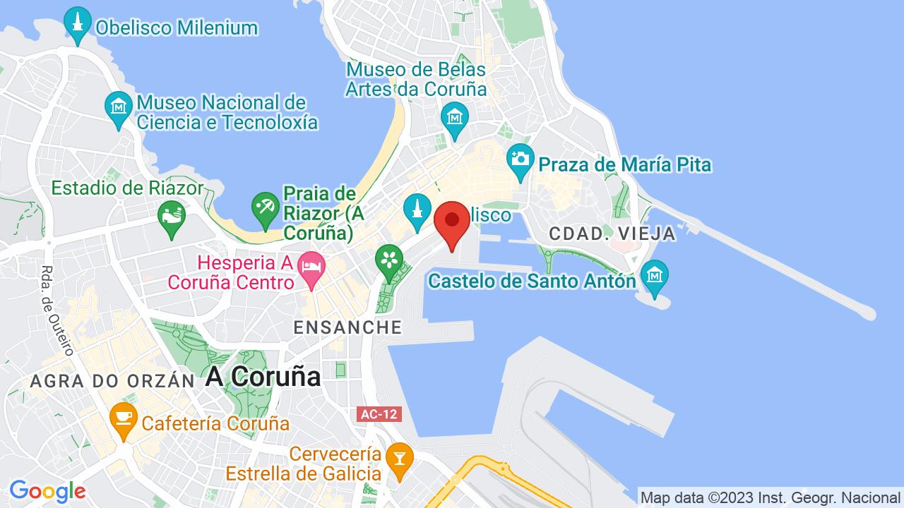 Map Of Spain La Coruna.Burning At Inn Club Apr 13 2019 La Coruna Spain