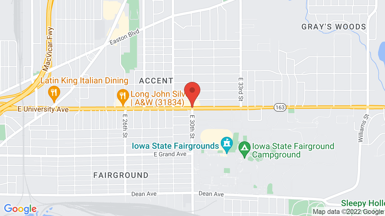 Map for Iowa State Fair
