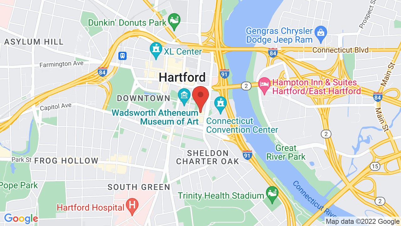 Map for Infinity Hall Hartford