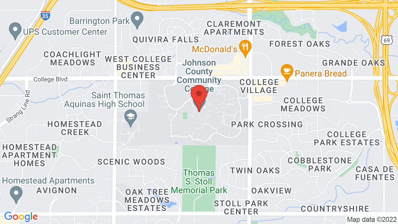 Map for Johnson County Community College