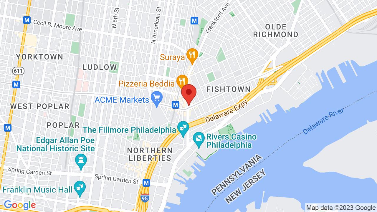 Map for Johnny Brenda's