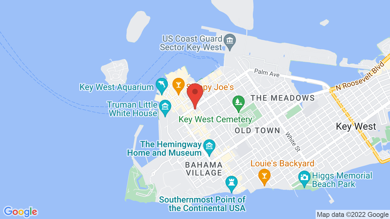 Map Of Key West Florida.Key West Theater Shows Tickets Map Directions