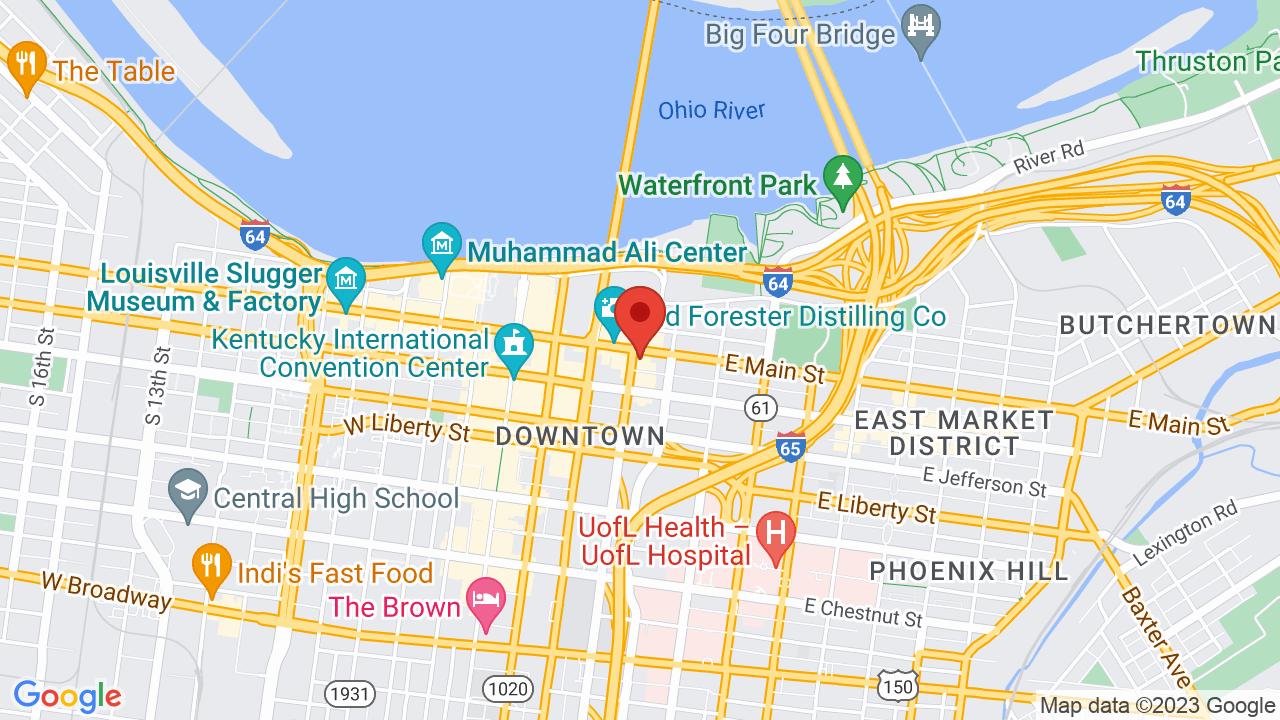 Map for KFC Yum! Center