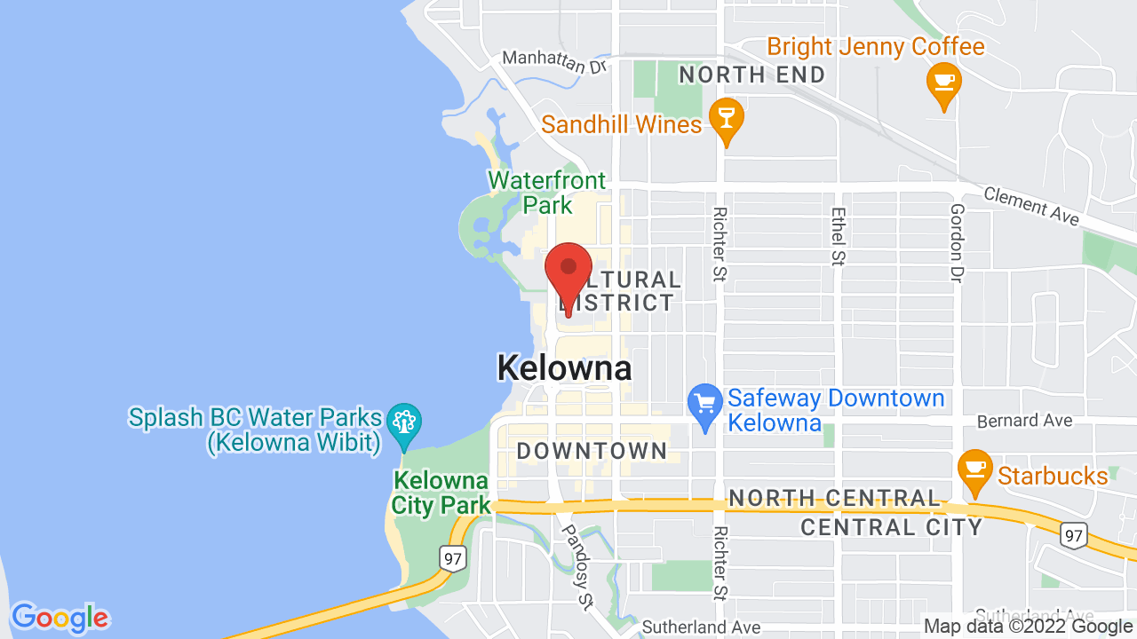 Map for Kelowna Community Theatre