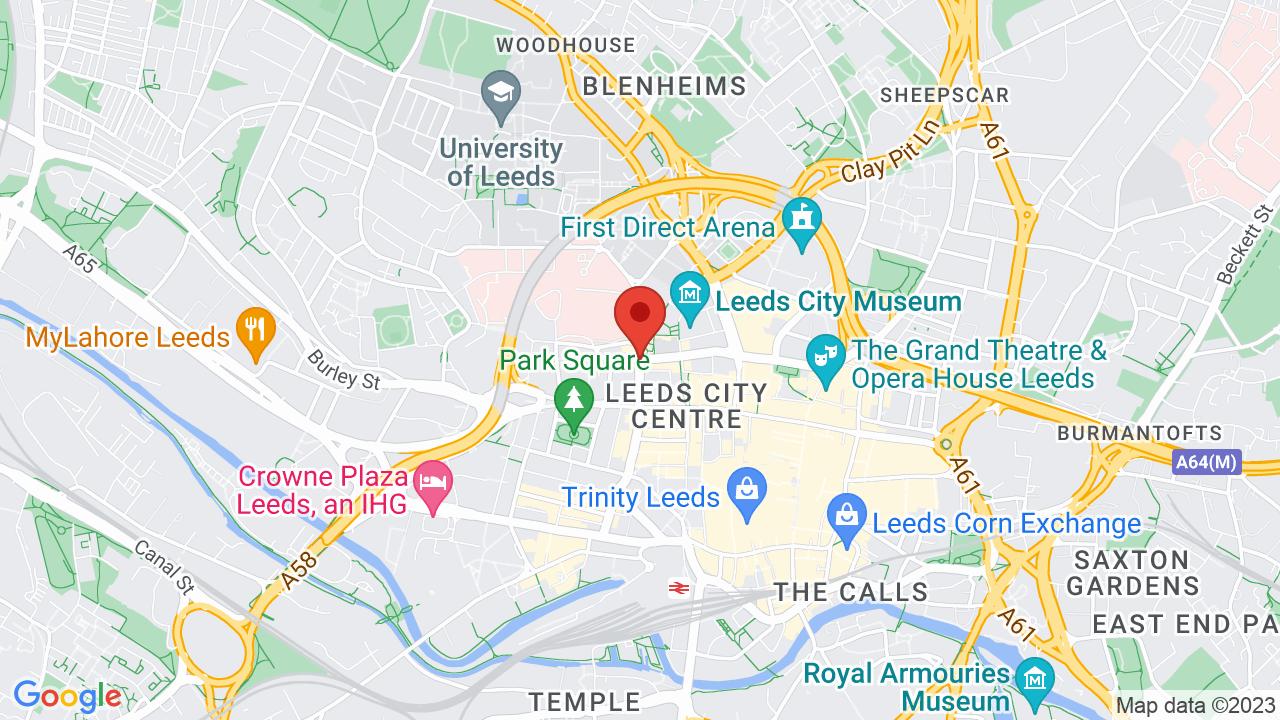 Map for Leeds University