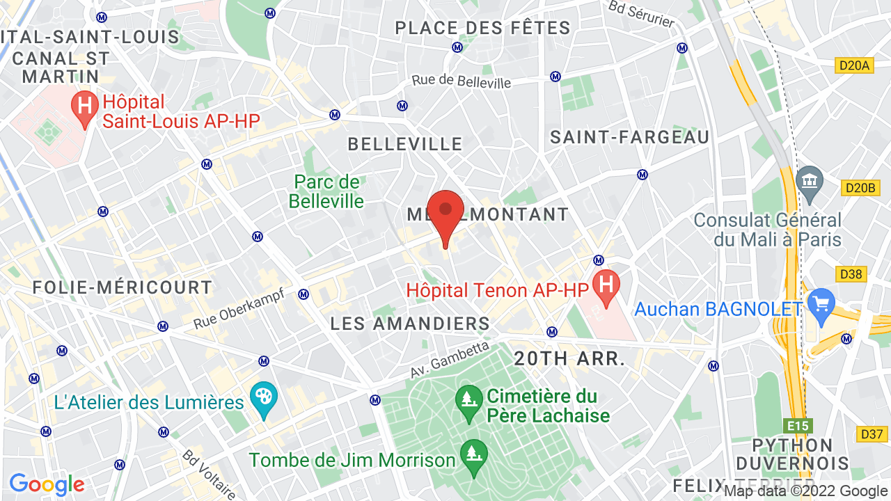 Map for La Maroquinerie