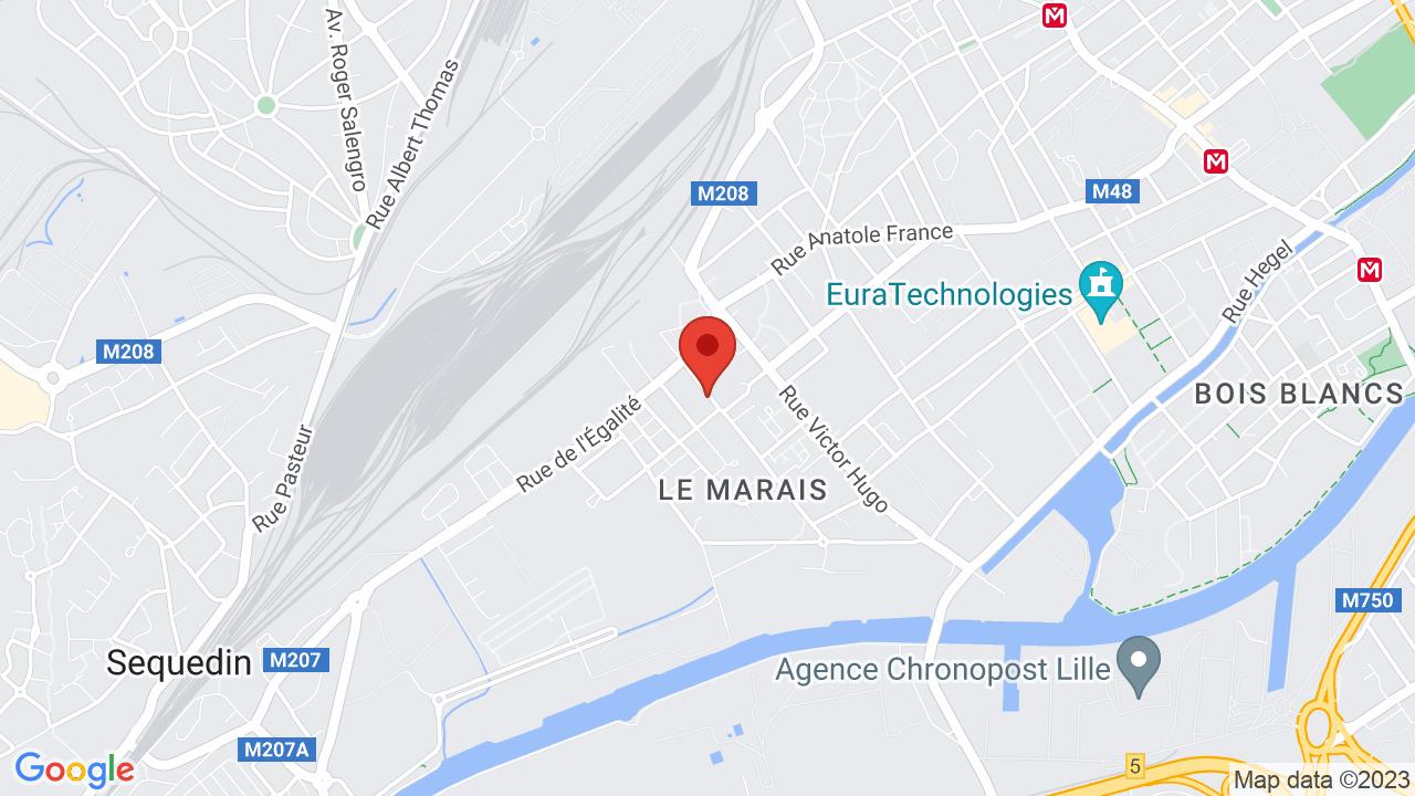 Map for La Malterie
