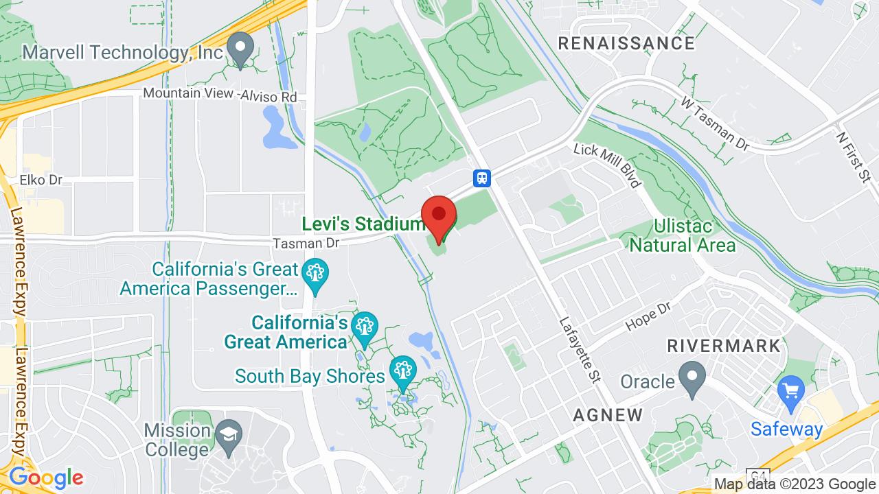 Map for Levi's Stadium