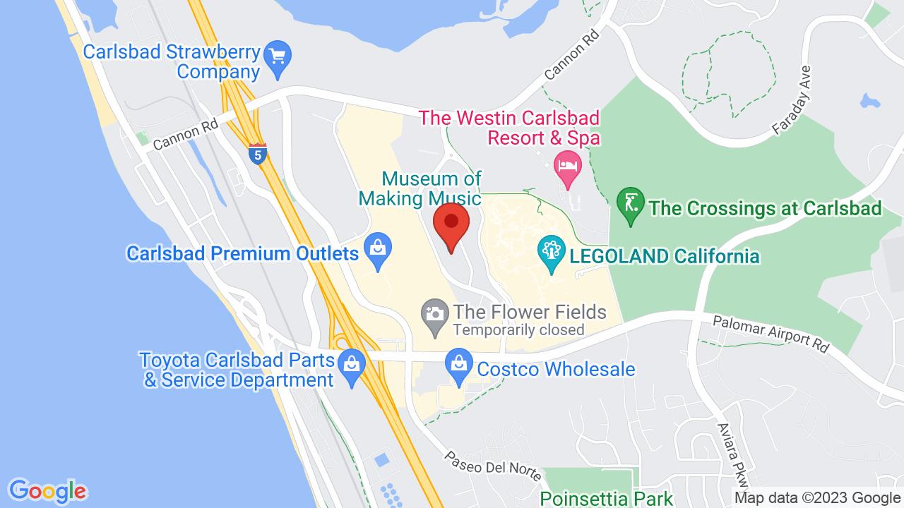 Carlsbad Ca Map on
