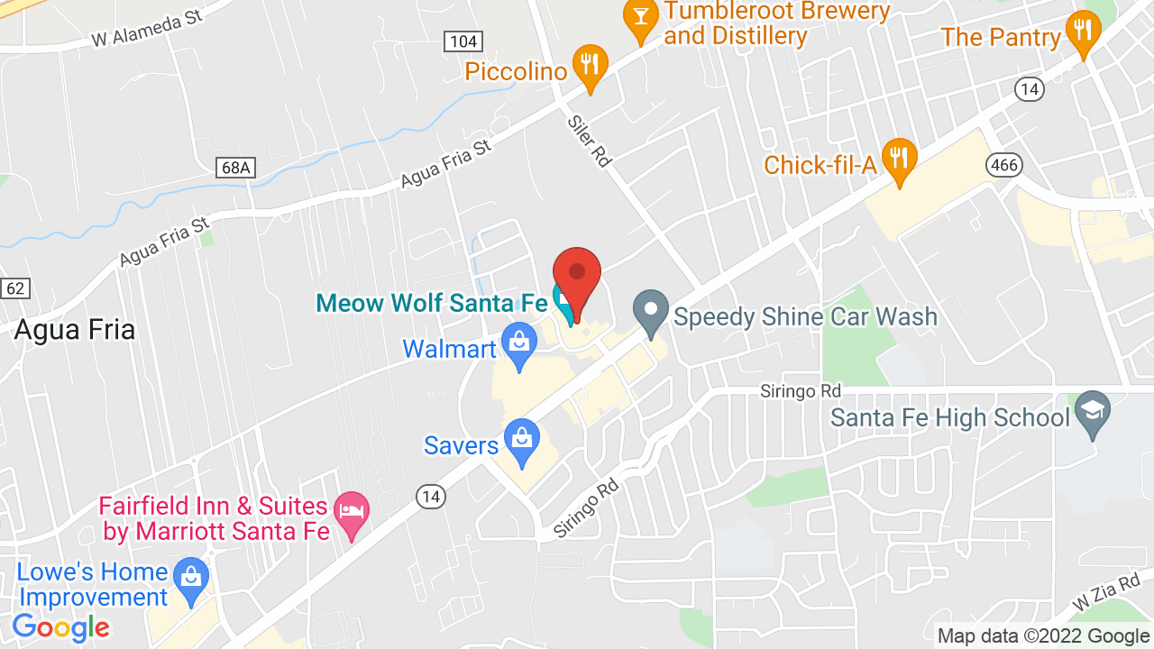 Map for Meow Wolf