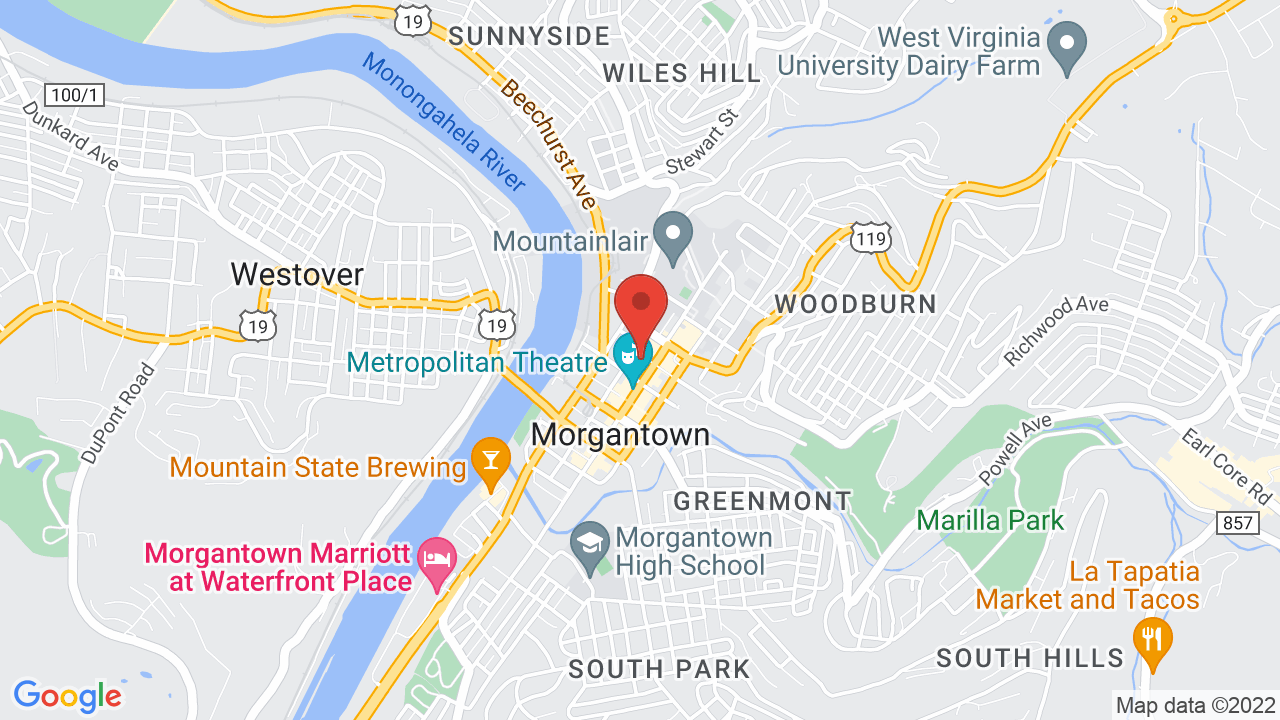 Map for Mainstage Morgantown