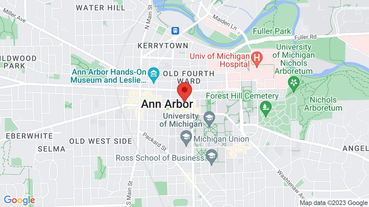 Map for Michigan Theatre