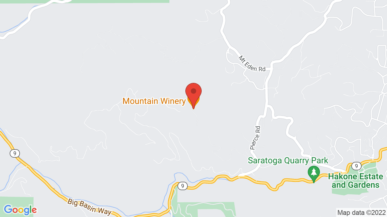 Map for Mountain Winery