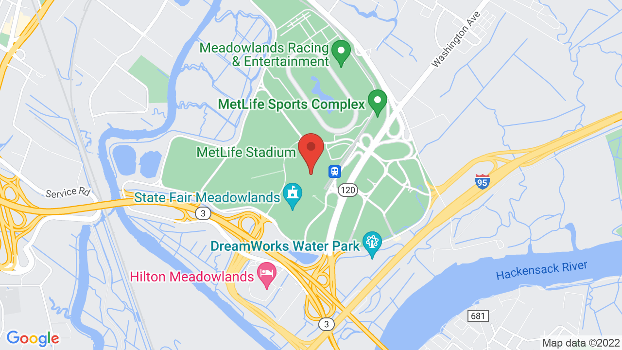 Map for MetLife Stadium