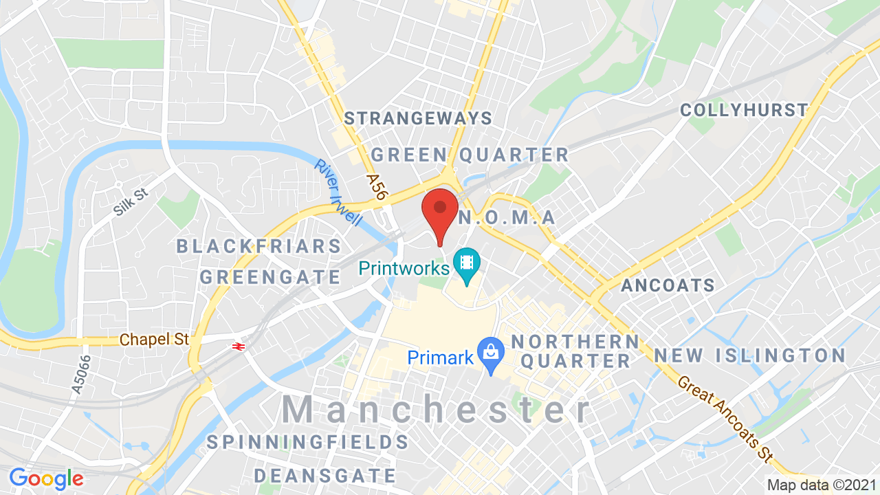 Map for Manchester Arena
