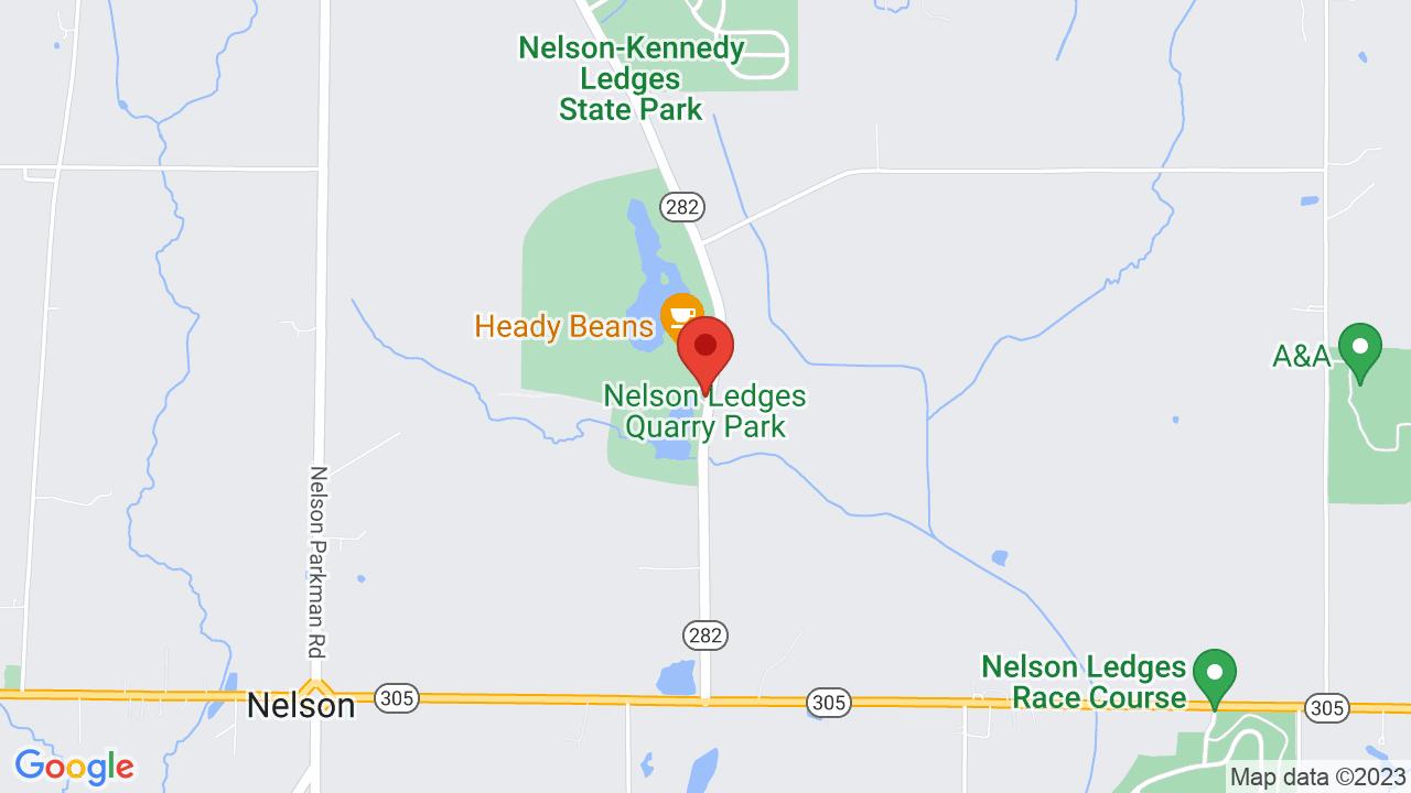 Map for Nelson Ledges Quarry Park