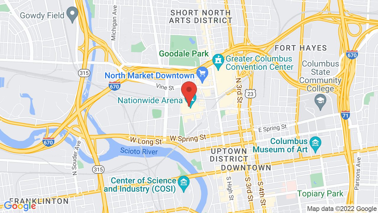 Map for Nationwide Arena